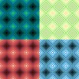 Fastställd färgrik geometrisk modell darked sömlös fyrkant Vektor il Royaltyfri Bild