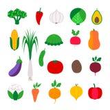 Fastställd färgrik grönsak Royaltyfri Bild