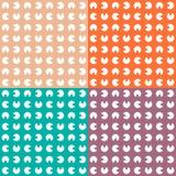 Fastställd flerfärgad modell Sömlös textur med Royaltyfri Bild