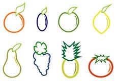 Fastställd frukt Arkivfoto