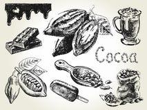 Fastställd gravyr för kakao royaltyfri illustrationer