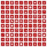 fastställd grunge för 100 röd smuggla godssymboler Royaltyfria Foton