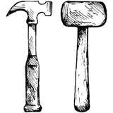 Fastställd hammare royaltyfri illustrationer