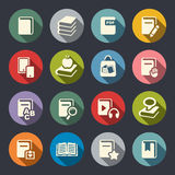 Fastställd illustration för boksymboler stock illustrationer