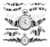 Fastställd illustration för rutiga flaggor Arkivbilder