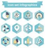 Fastställd infographics för symbol Arkivfoton