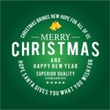 Fastställd lång-skugga för julsymboler Arkivfoto