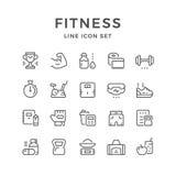 Fastställd linje symboler av kondition Arkivfoto