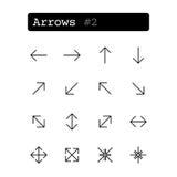 Fastställd linje symboler vektor arrowheaden stock illustrationer