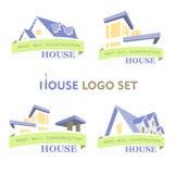 Fastställd logo för hus Arkivfoto