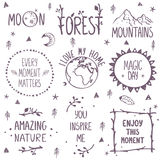 Fastställd logo för natur royaltyfri illustrationer