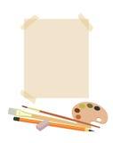 Fastställd målare för skola Arkivbild