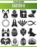 Fastställd påsk II för svart symbol stock illustrationer