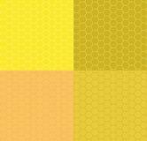 Fastställd sömlös honungskakahonungguling också vektor för coreldrawillustration Arkivbild