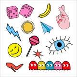 Fastställd stilklotterkonst som är godkänd för klistermärken, emblem vektor royaltyfri illustrationer