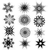 Fastställd svart för tatueringdesigner Arkivbilder