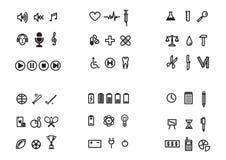 Fastställd symbol vektor illustrationer