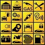 Fastställd symbol för bil Royaltyfria Bilder