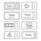 Fastställd symbol för biljett Arkivbild