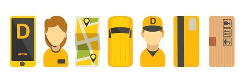 Fastställd symbol för hemsändning Isolerad vektorlägenhetillustration för affär, informationsdiagram, baner, presentationer Arkivbilder