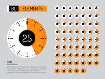 Fastställd tidmätare för klockavisartavla Arkivfoto