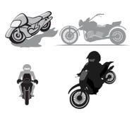 Fastställd vektor för moped Vektor Illustrationer