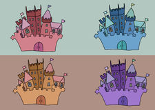 Fastställd vektorillustration för slott royaltyfria bilder
