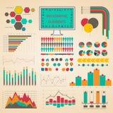 Fastställda beståndsdelar av infographicsen Fotografering för Bildbyråer