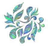 Fastställda blåttfjädrar royaltyfri illustrationer