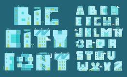 Fastställda bokstav-byggnader för alfabet Du kan skriva något ord Arkivfoto