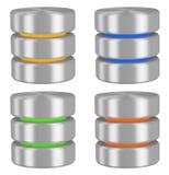 Fastställda databassymboler Arkivbilder