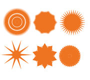 Fastställda designbeståndsdelar. Abstrakt symboler Arkivbild