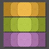 Fastställda färgrika bakgrundsbaner för vektor stock illustrationer