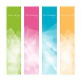 Fastställda färgrika polygonal baner, vektor Royaltyfria Foton