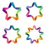 Fastställda färgrika stjärnor Arkivfoton
