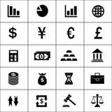 Fastställda finanssymboler Fotografering för Bildbyråer