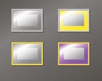 Fastställda horisontal tömmer ramen på väggen Royaltyfria Foton