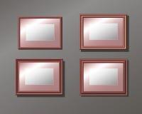Fastställda horisontal tömmer ramen på väggen Royaltyfria Bilder