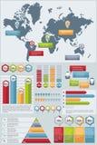 Fastställda Infographic beståndsdelar Arkivbilder