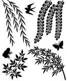 Fastställda japanska traditionella prydnadar. Arkivbild