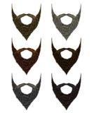 Fastställda långa olika färger för skägg och för mustasch modeskönhetvagel stock illustrationer