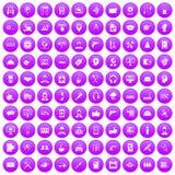 100 fastställda lilor för servicesymboler stock illustrationer