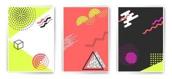 Fastställda minimalistic affischmallar för vektor Arkivfoto