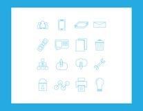 Fastställda rengöringsduksymboler Arkivbilder