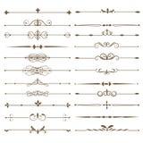 Fastställda sidaavdelare Antika dekorativa element royaltyfri illustrationer
