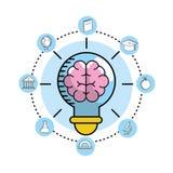 Fastställda skolaredskap till utbildningskunskap vektor illustrationer