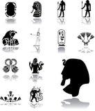 Fastställda symboler - 156. Egypten stock illustrationer
