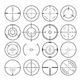 Fastställda symboler för Crosshair Vektor Illustrationer
