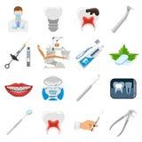 Fastställda symboler för tand- service Royaltyfri Fotografi