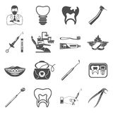 Fastställda symboler för tand- service Royaltyfria Foton